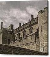 Sterling Castle Scotland Sterling Closed Grey Canvas Print