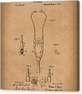 Stethoscope 1882 Patent Art Brown Canvas Print