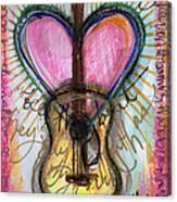 Steve Gold Guitar Canvas Print