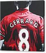 Steven Gerrard - Liverpool Fc 3 Canvas Print