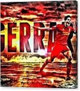 Steven Gerrard Liverpool Symbol Canvas Print