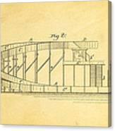 Stevens Roller Coaster Patent Art  2 1884 Canvas Print