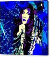 Stevie Nicks In Blue Canvas Print