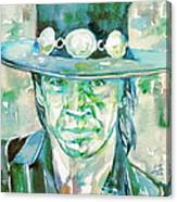Stevie Ray Vaughan- Watercolor Portrait Canvas Print