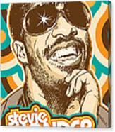 Stevie Wonder Pop Art Canvas Print