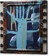 Sticker Tree - Framed Canvas Print