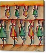 Stickwomen Performers Canvas Print
