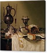 Still Life, 1642 Oil On Canvas Canvas Print