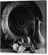 Still Life Of Armenian Plate And Other Canvas Print