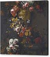 Still Life Of Roses Canvas Print