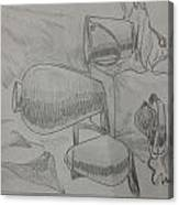 Still Life Sketching Canvas Print