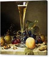 Still Life With A Glass Of Champagne Canvas Print