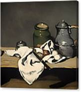 Still Life With A Kettle Canvas Print