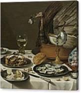 Still Life With A Turkey Pie Canvas Print