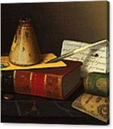Still Life With A Writing Table Canvas Print