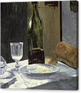 Still Life With Bottles Canvas Print