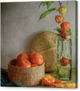 Still Life With Clementines Canvas Print