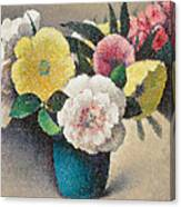 Still Life With Flowers Canvas Print