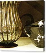 Still Life With Golden Vase Canvas Print