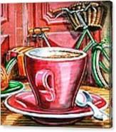 Still Life With Green Dutch Bike Canvas Print