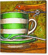 Still Life With Green Stripes And Saddle  Canvas Print
