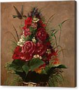 Still Life With Hummingbird Canvas Print