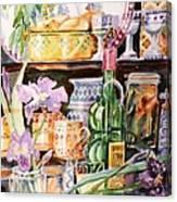 Still Life With Irises Canvas Print