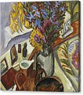 Still Life With Jug And African Bowl Canvas Print