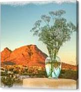 Still Life With Landscape Canvas Print