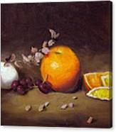 Still Life With Orange And Egg Canvas Print
