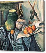 Still Life With Pitcher And Aubergines Oil On Canvas Canvas Print