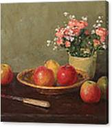 Still Life With Red Apples Canvas Print