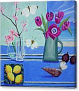 Still Life With Sea View Sold Canvas Print