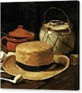 Still Life With Straw Hat Canvas Print