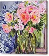 Still Life With Two Blue Ginger Jars Canvas Print