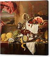 Still Life With View Canvas Print
