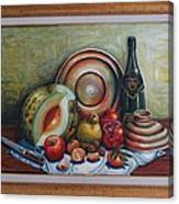 Still Life With Water Melon Canvas Print