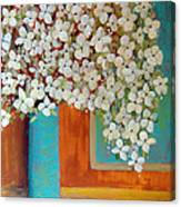 Still Life With White Flowers Canvas Print