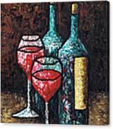 Still Life With Wine Canvas Print