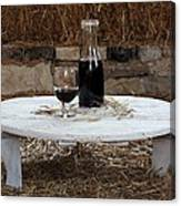Still Life With Wine Slv1 Canvas Print