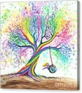 Still More Rainbow Tree Dreams Canvas Print