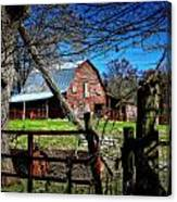 Still Useful Rustic Red Barn Art Oconee County Canvas Print