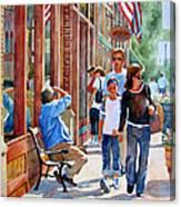 Stillwater Shoppers Canvas Print