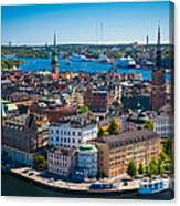 Stockholm From Above Canvas Print