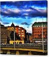 Stockholm In Color Canvas Print