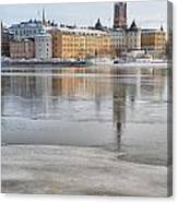 Stockholm Winter Canvas Print