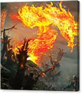 Stoke The Flames Canvas Print