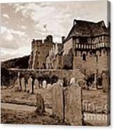 Stokesay Castle Sepia Canvas Print