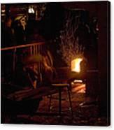 Stoking The Sauna Canvas Print