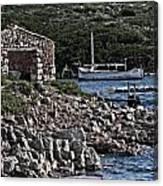 Roman Port Of Sa Nitja In Minorca - Stone And Sea Canvas Print